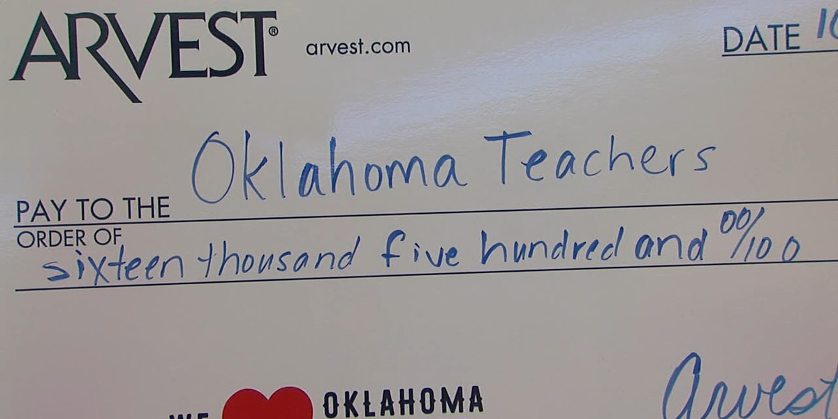 Arvest to Give $16,500 to Oklahoma Teachers