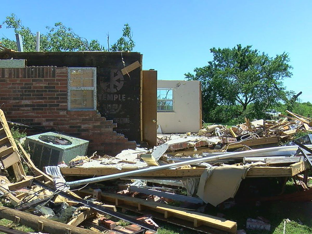 Geronimo homeowners pick up the pieces after Saturday morning tornado