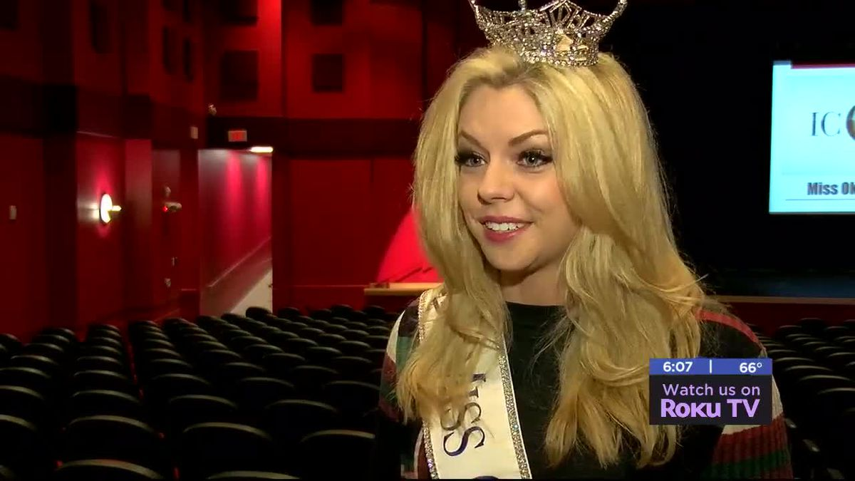 Miss Oklahoma visits Cache High School