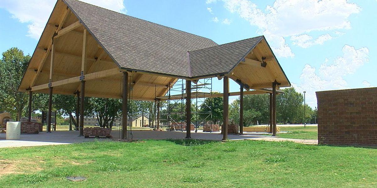 Lawton teen building Patriot Pavilion in Elmer Thomas Park