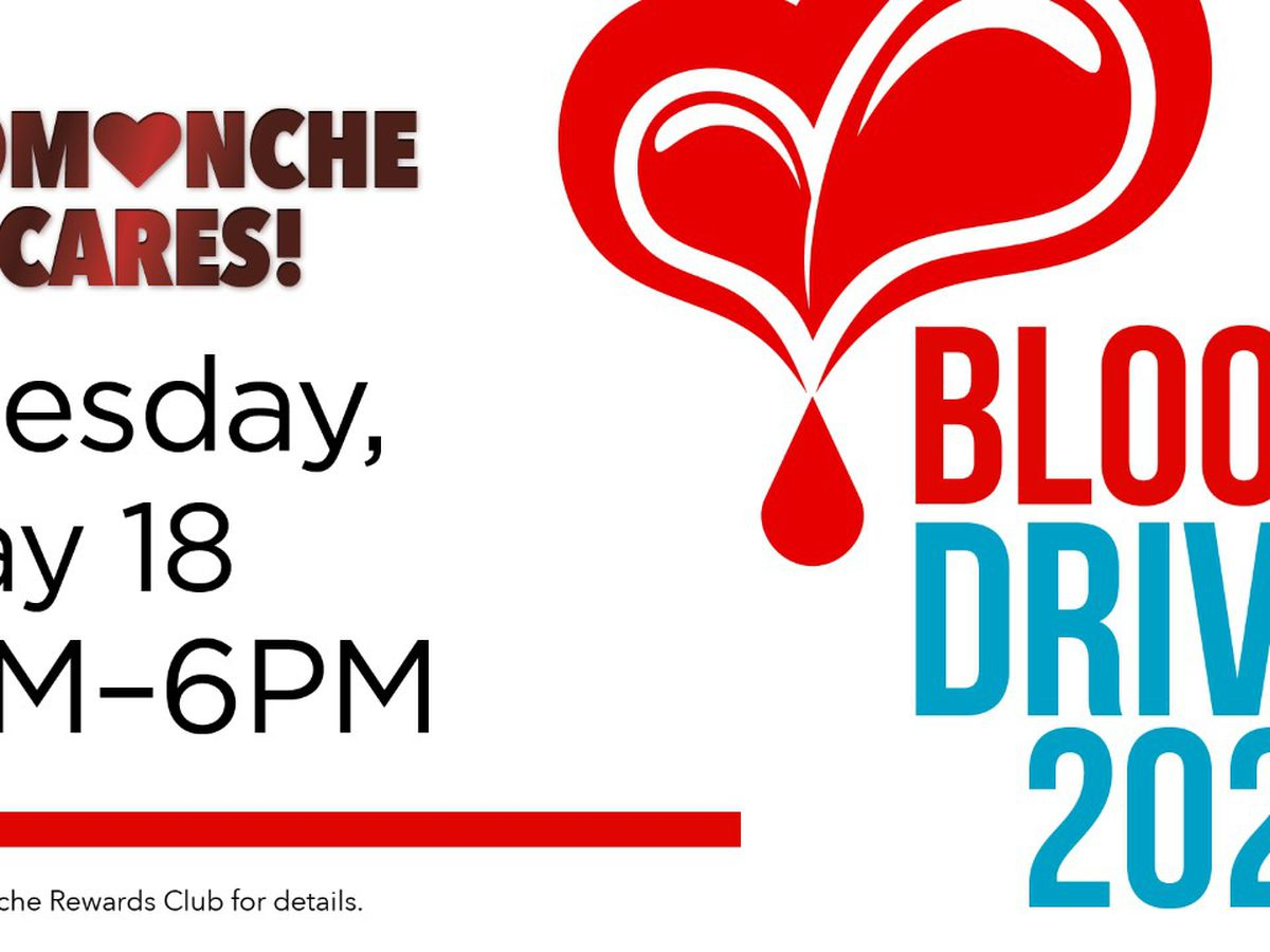 Donors get t-shirt, Comanche Credit during Comanche Cares Blood Drive