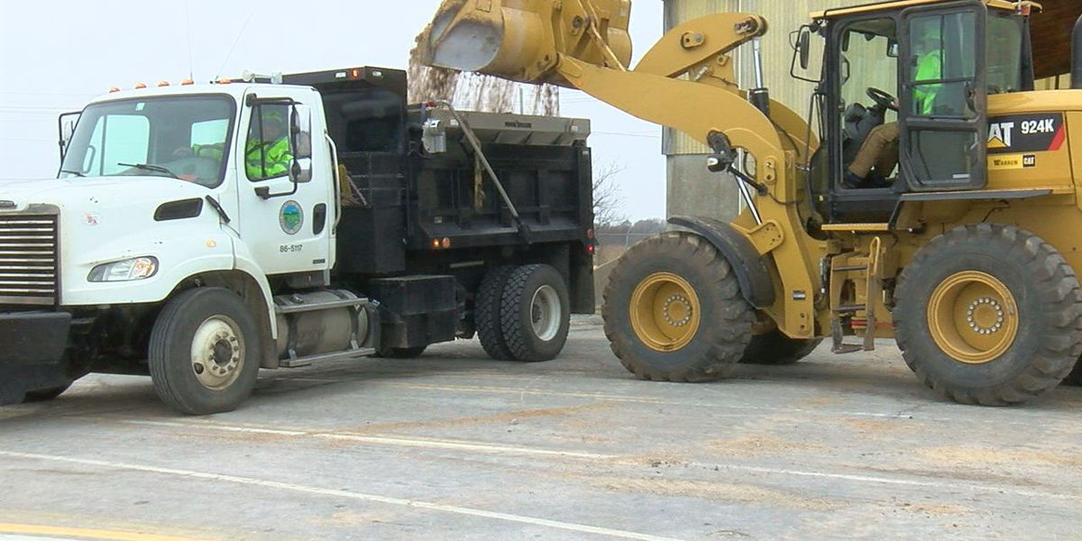 ODOT and City of Lawton prepare trucks in preparation for winter weather