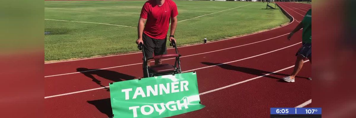 Marlow man walks first public quarter mile after accident