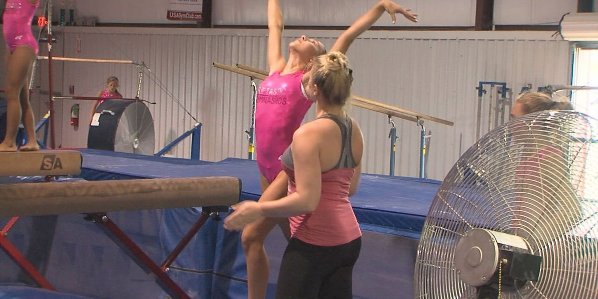 Young gymnasts inspired by national team