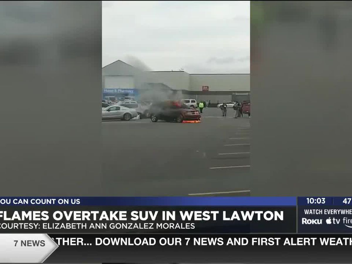 Flames overtake SUV in Lawton