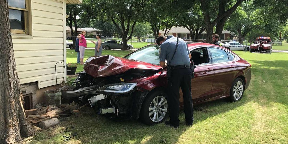 Medical episode results in crash in Lawton