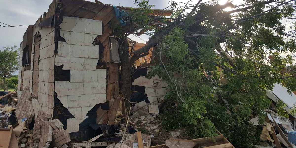 Geronimo man looking for help after his house was destroyed by tornado