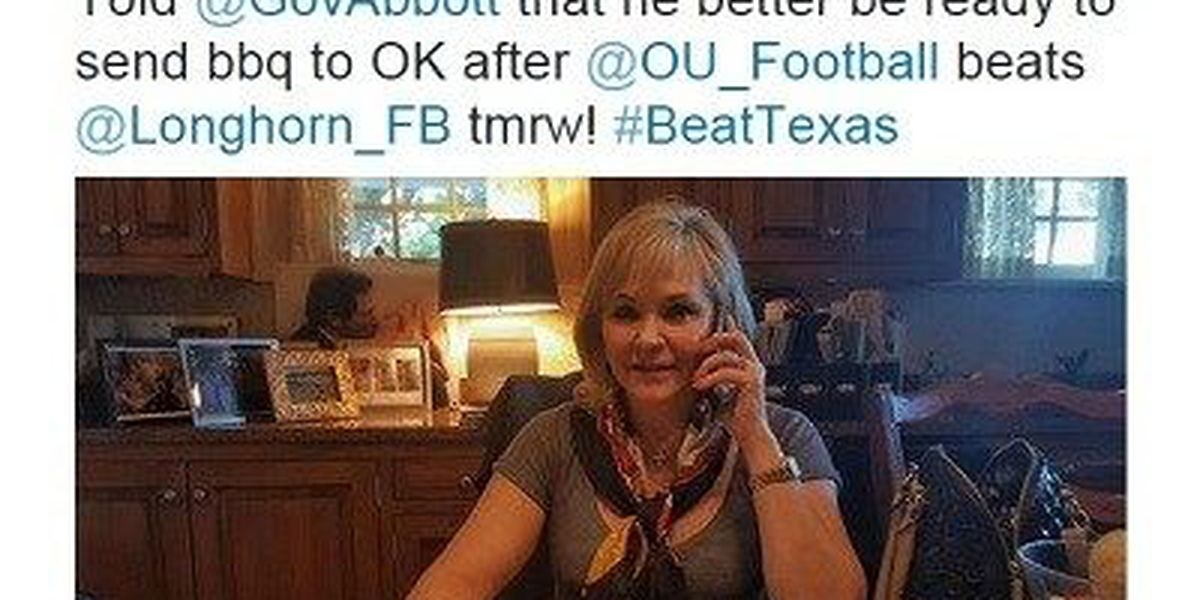 """Oklahoma, Texas governors make """"bets"""" on Red River Rivalry"""