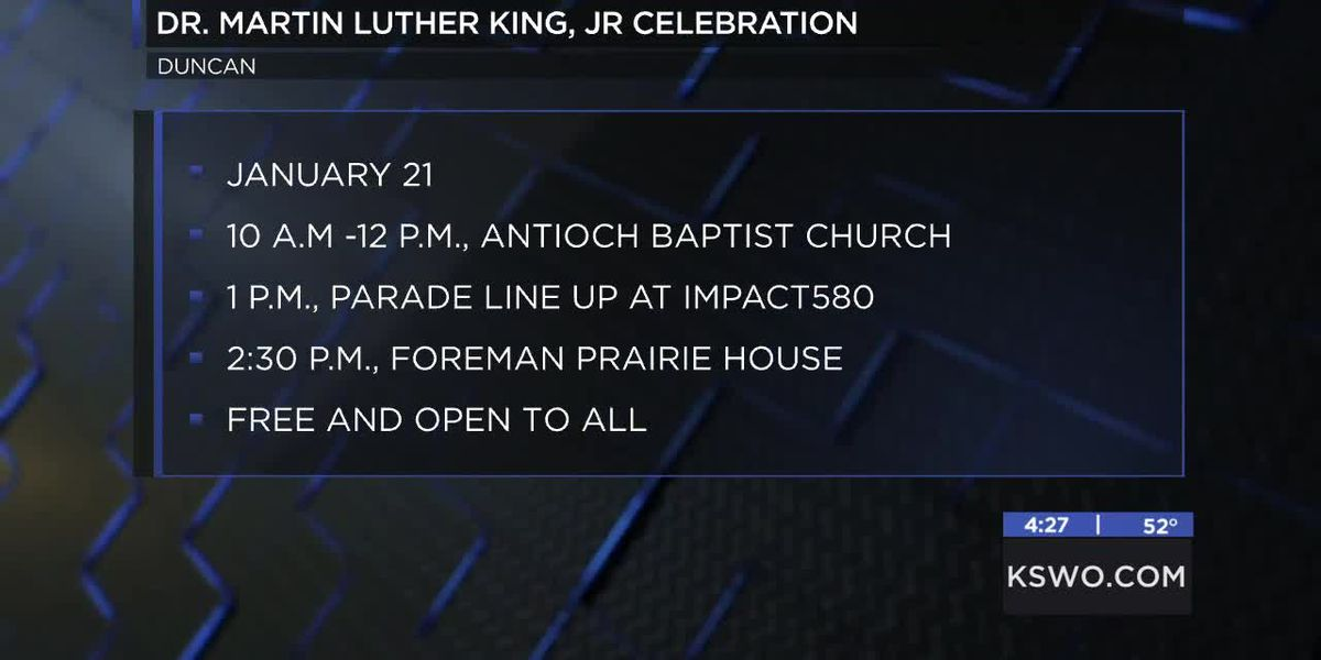 Antioch Baptist Church hosting Dr. Martin Luther King, Jr. Celebration in Duncan