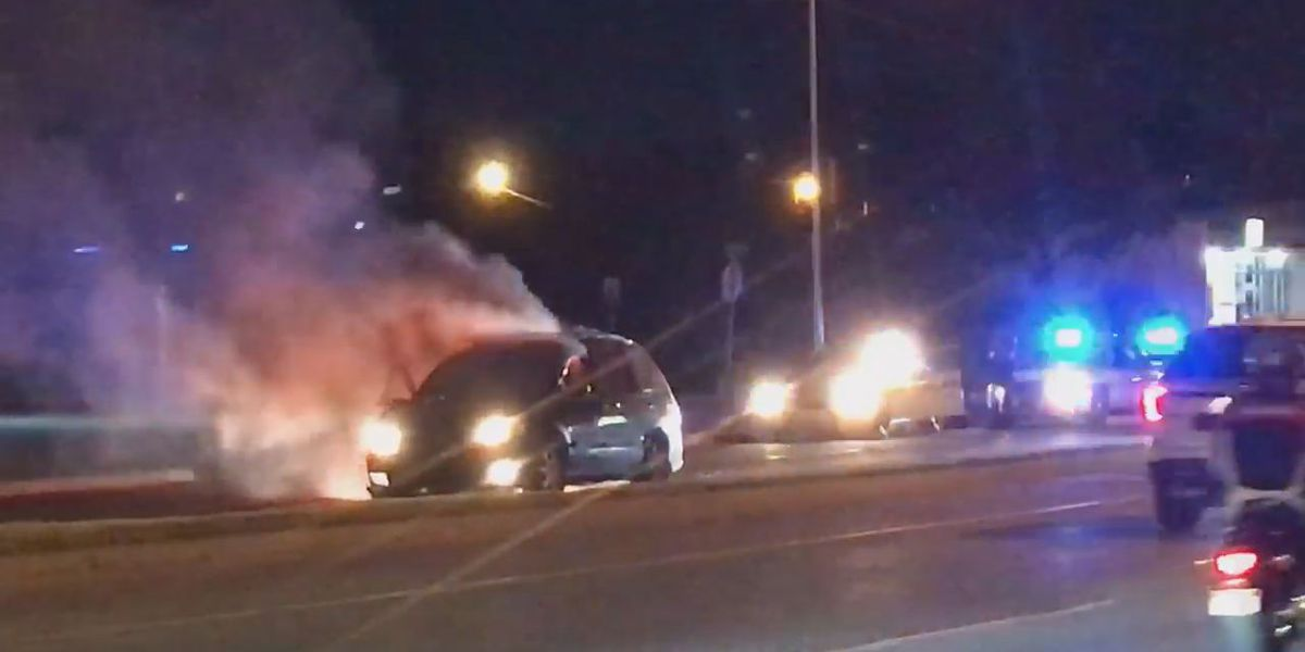 Vehicle catches fire during pursuit in Lawton