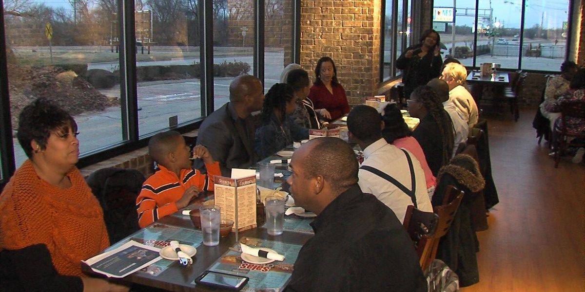 Students visit with city and community leaders