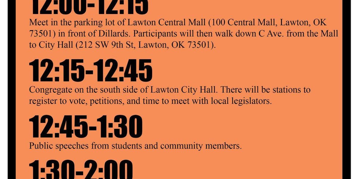 """Students """"Rally For Change"""" against gun violence"""