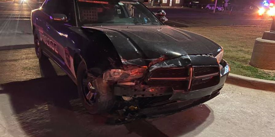 Elgin officer involved in crash, second victim flown to hospital