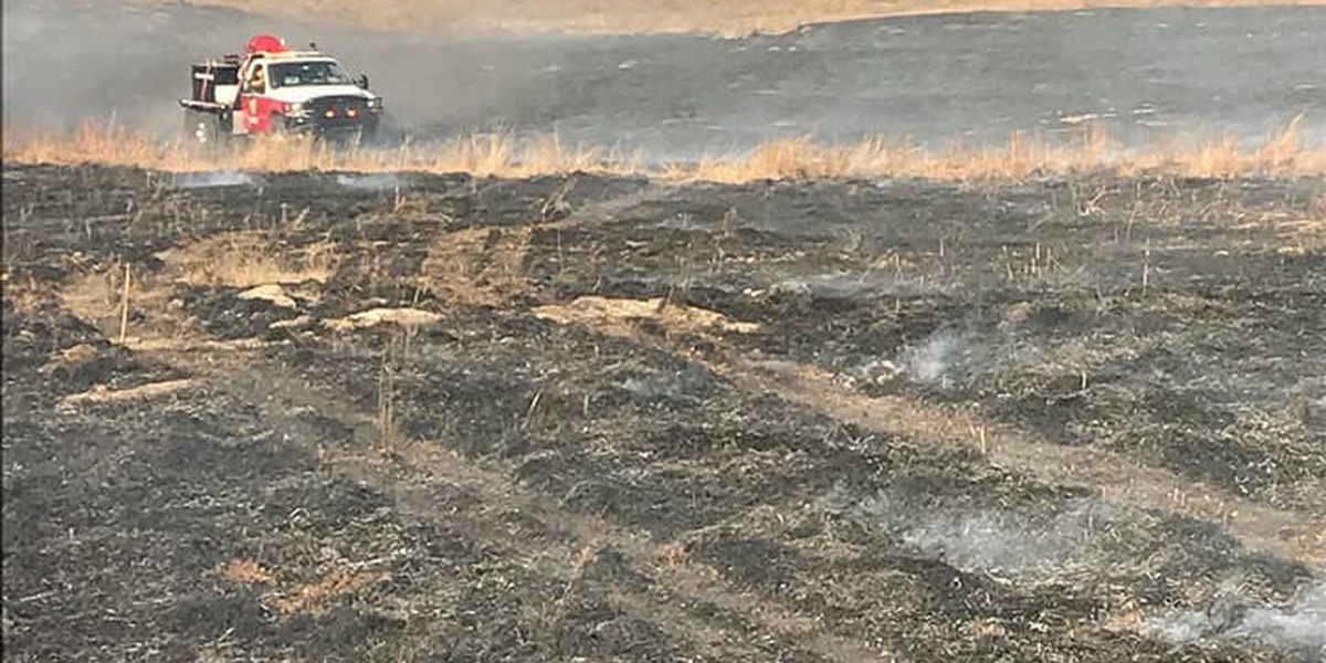 Grass fire burns about 10 acres in east Comanche County