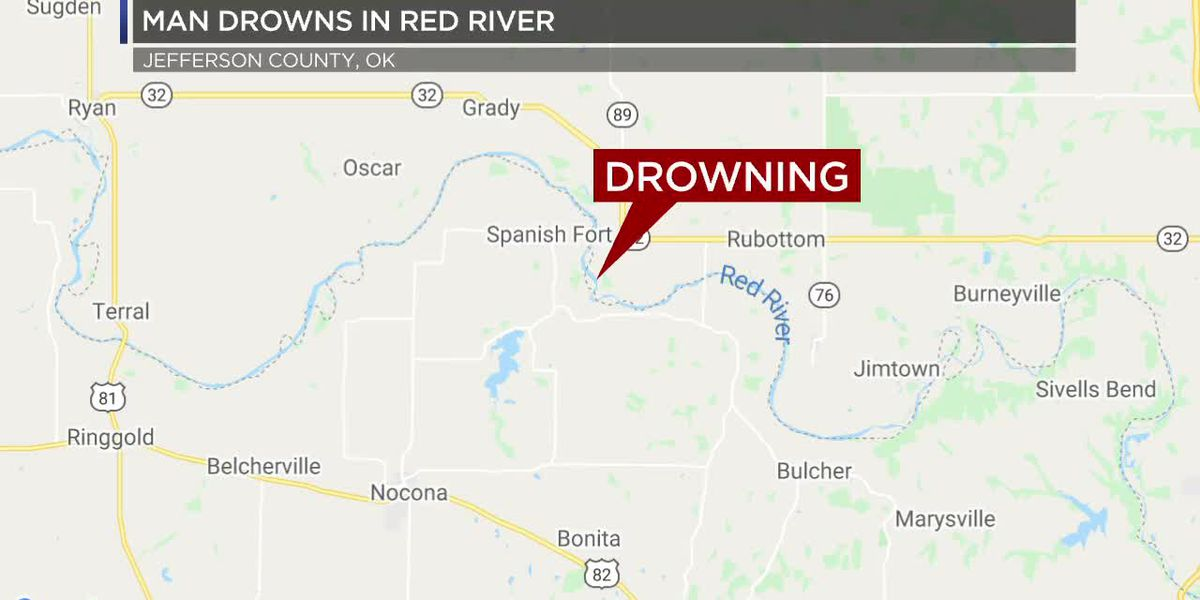 Nocona man drowns in Red River over weekend