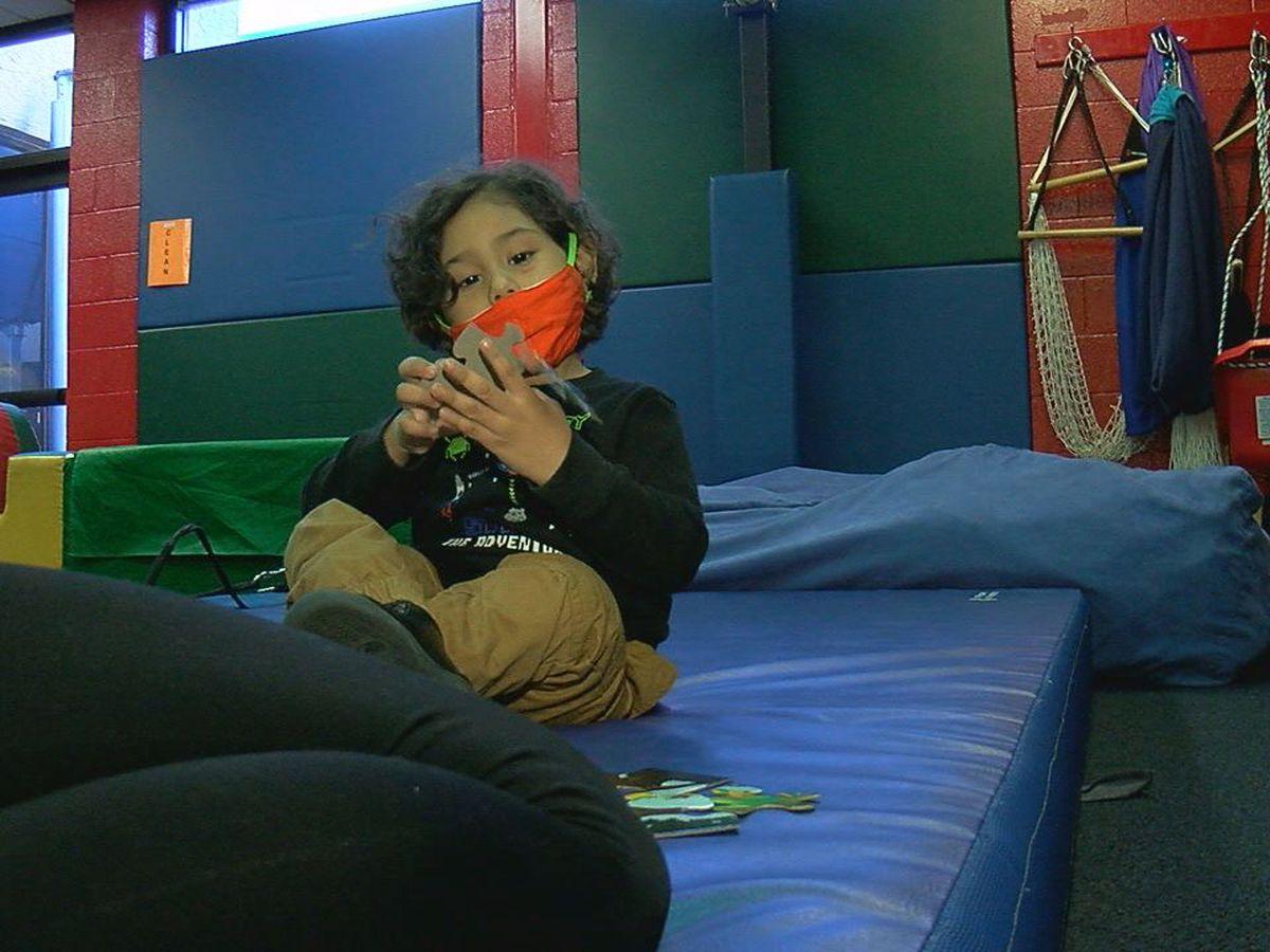 West Texas Rehab: Teaching pediatric patient how to walk