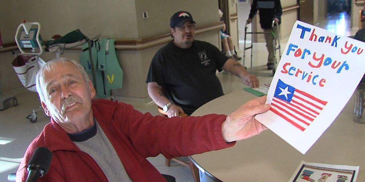 Christmas card delivery to veterans in Lawton