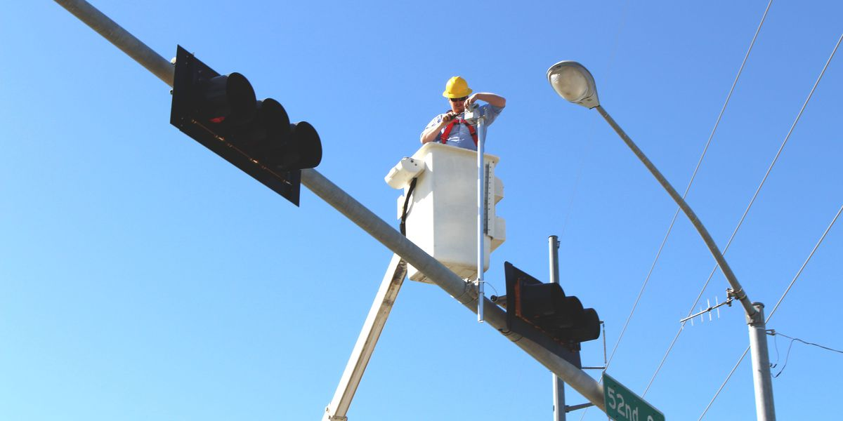 Upgrades to a number of Lawton traffic lights