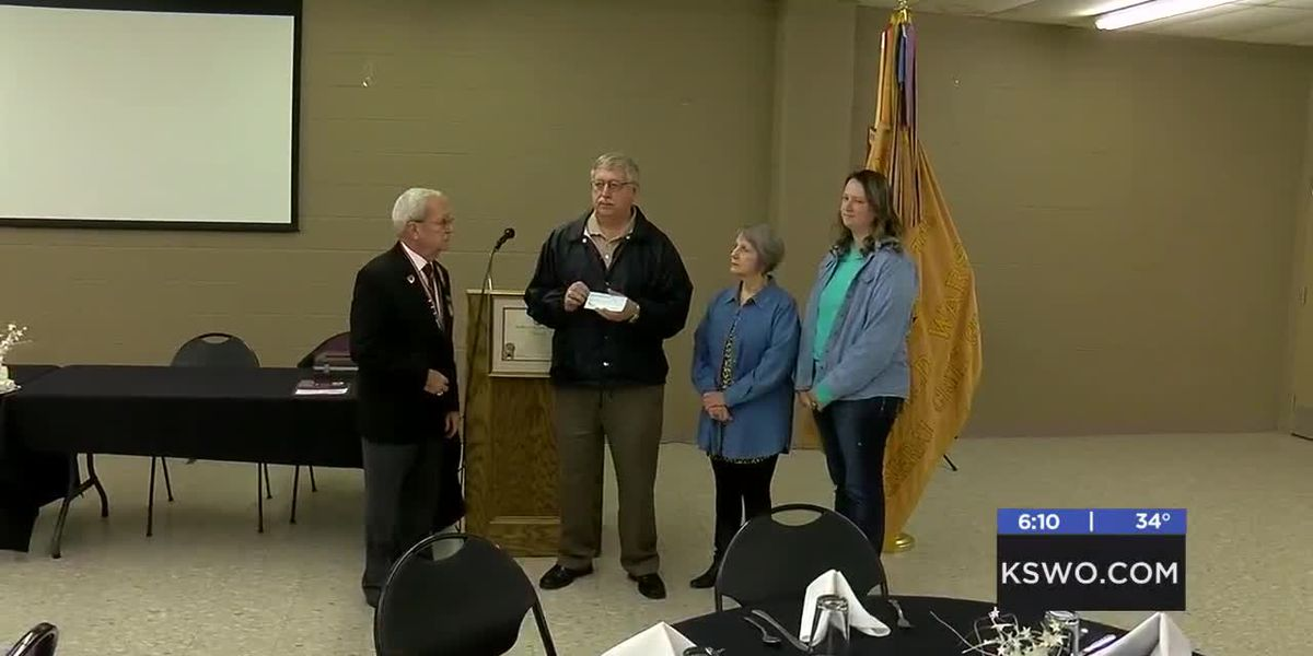 Local veterans' organization donates $7,000 towards playground