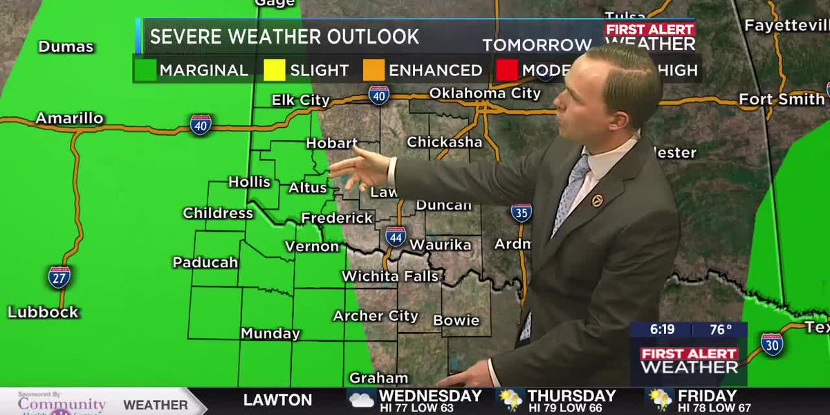 7News First Alert Weather: Isolated strong storms possible tomorrow