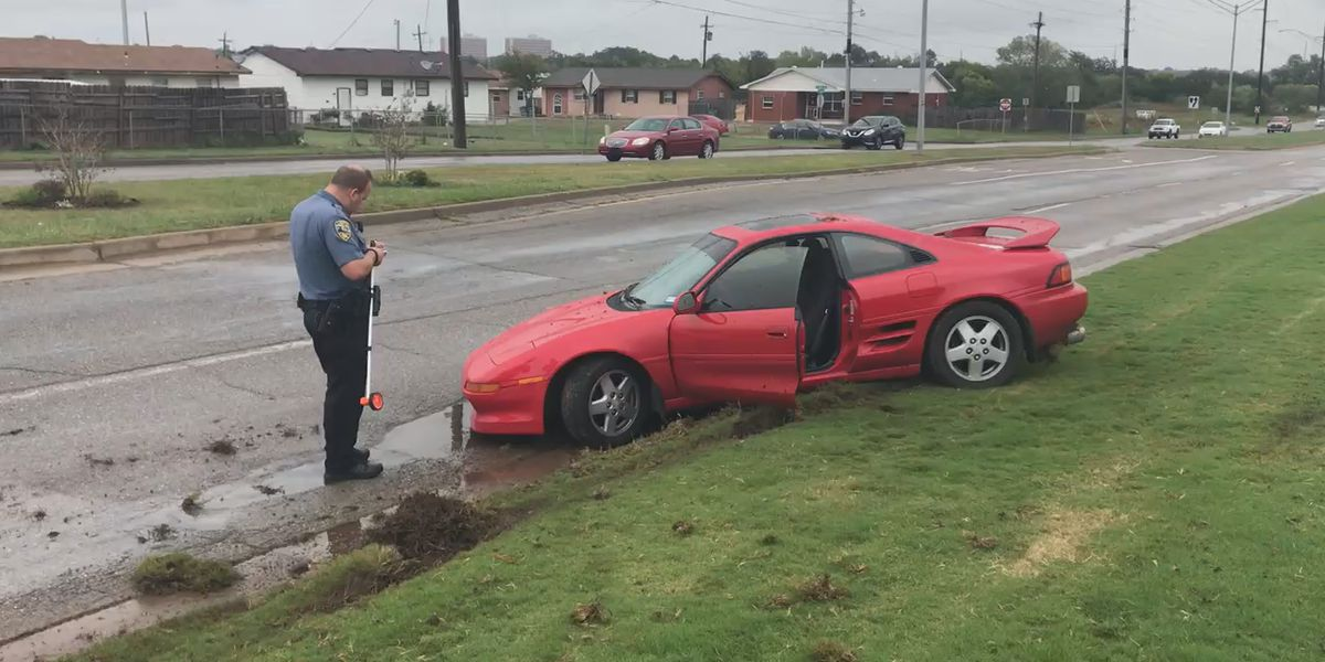 Crash causes gas leak, road closure in west Lawton