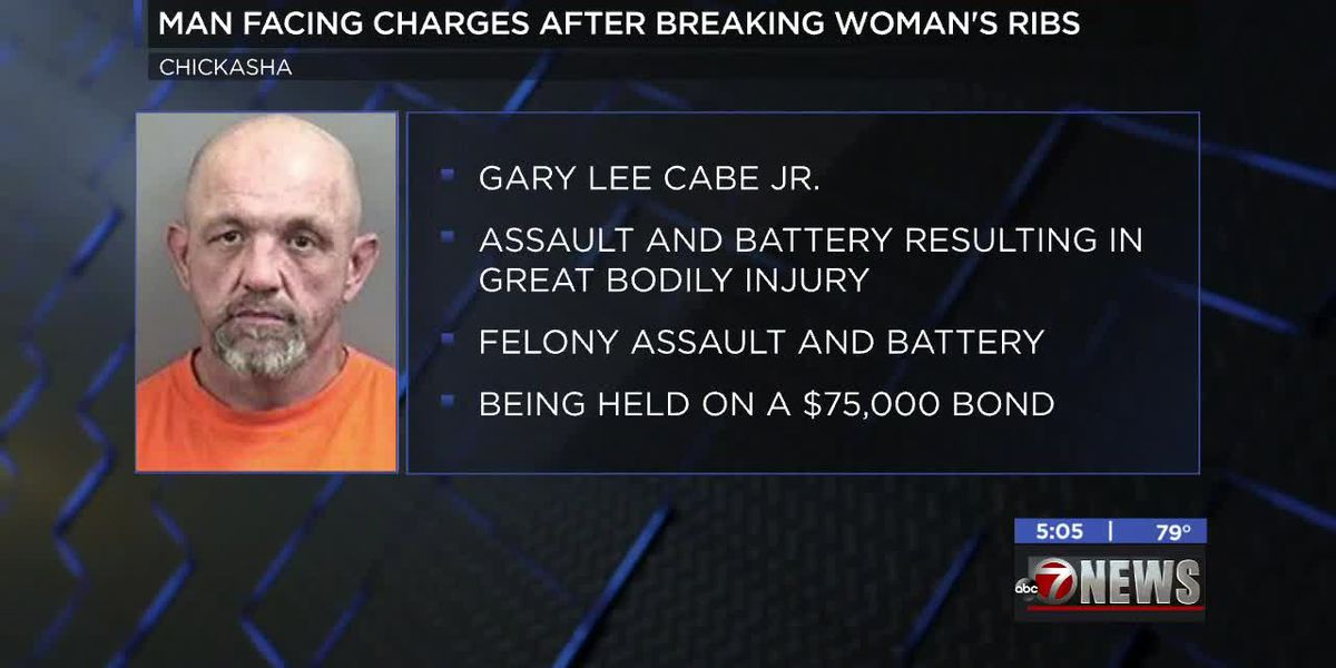 Chickasha man facing charges for breaking woman's ribs