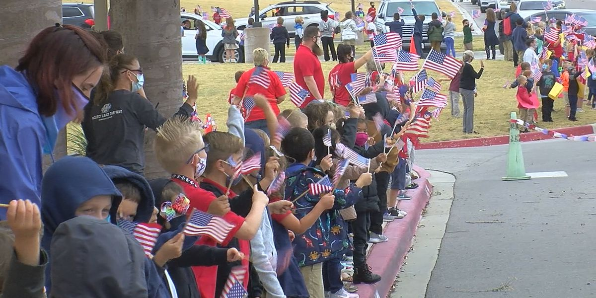 Freedom Elementary students hold Veterans Day parade