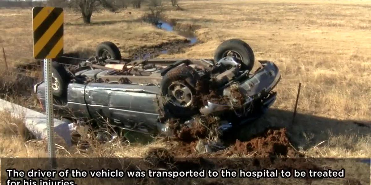 Rollover accident in Western Comanche County sends one to hospital
