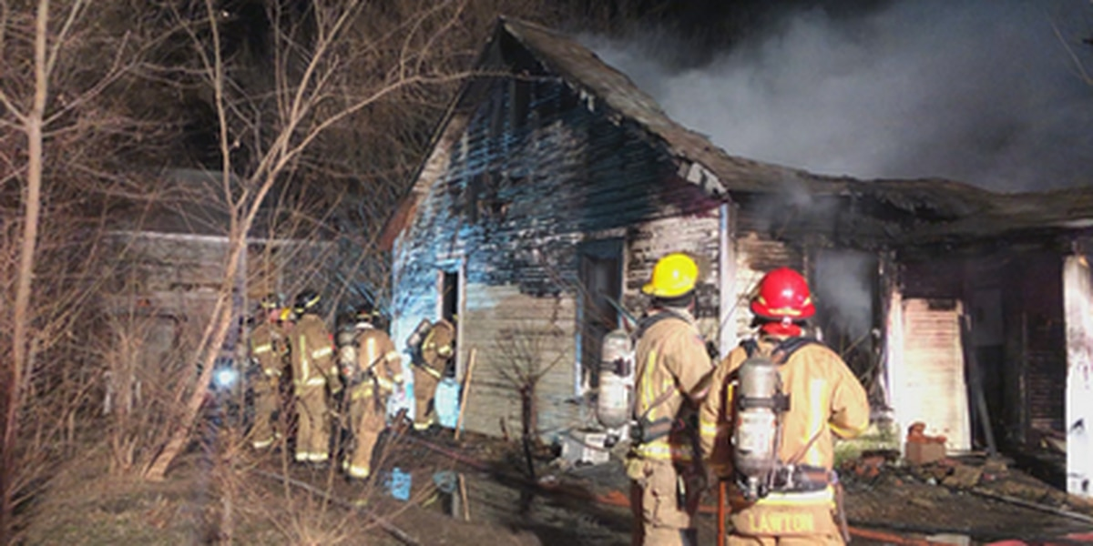 Home destroyed in Lawton fire