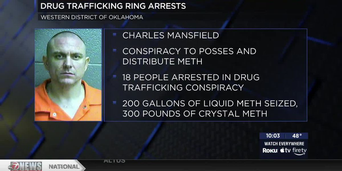 18 charged in massive Oklahoma drug bust