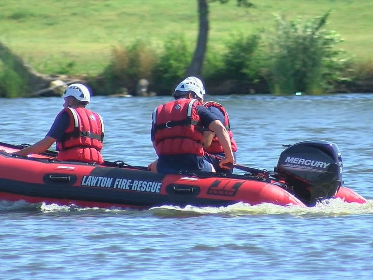 Lawton Fire Department undergoes water rescue training