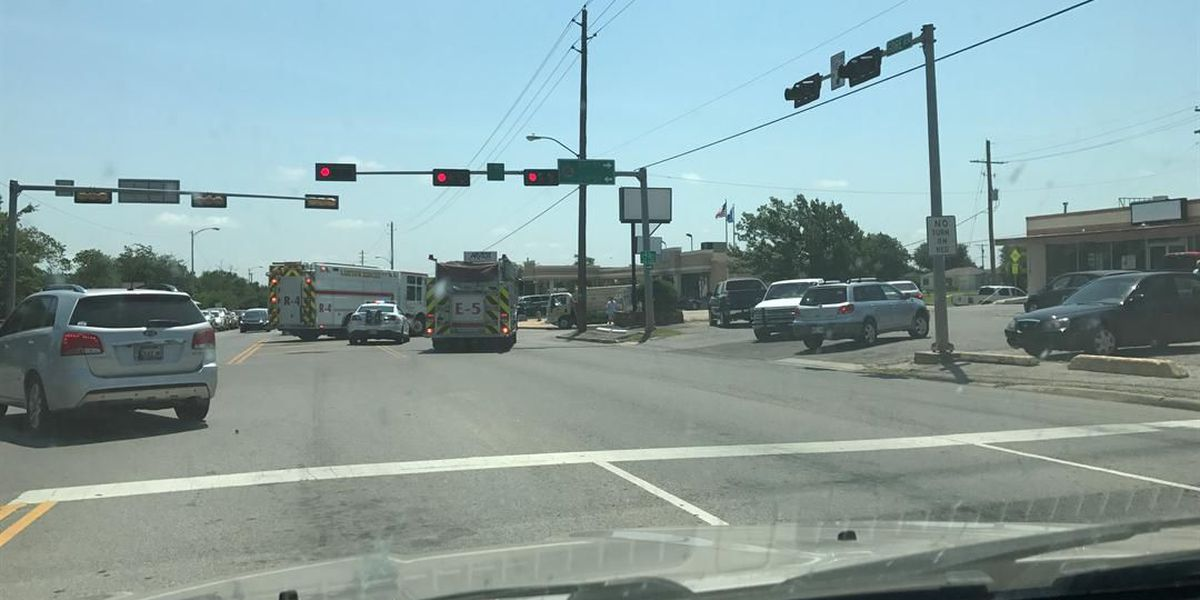 Two-car accident at 27th and Gore in Lawton