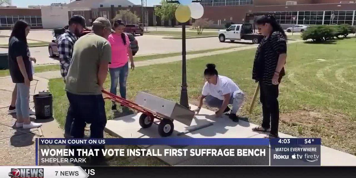 Women That Vote installs first Suffrage Bench in Shepler Park