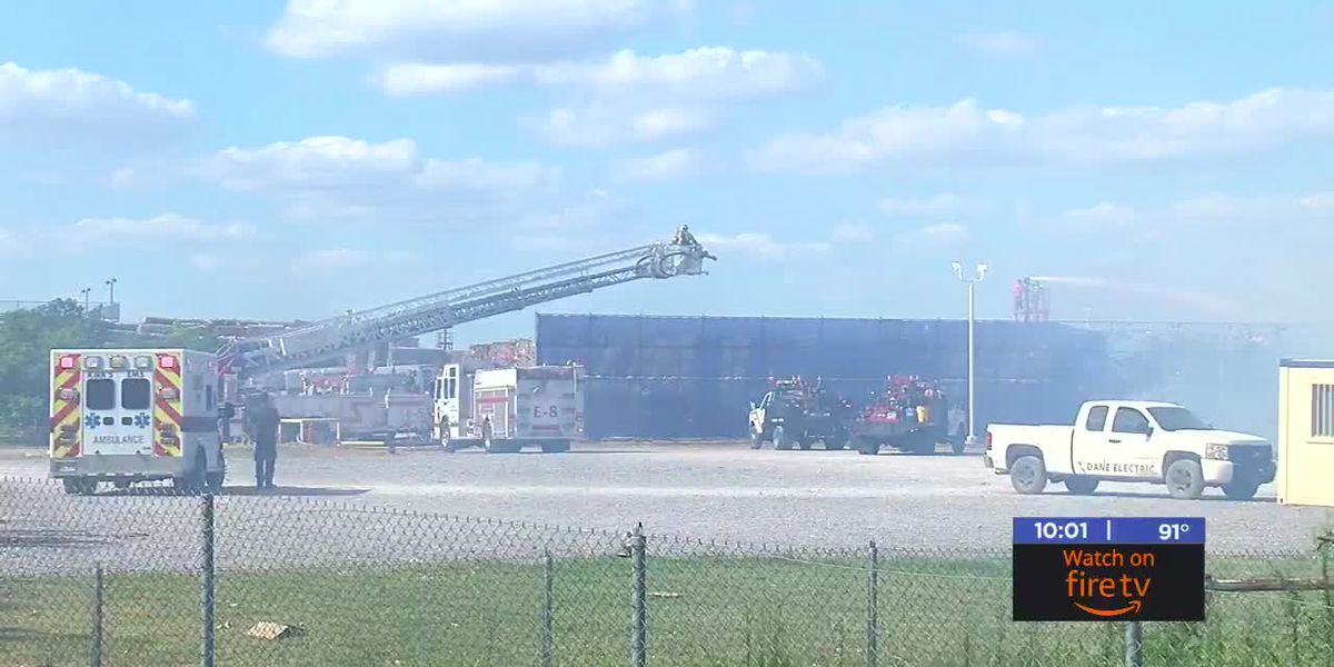 Crews fight fire at Republic Paperboard Company in west Lawton