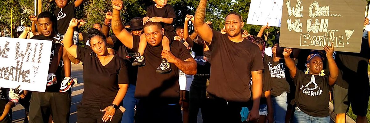 Peaceful protest in Lawton for music video