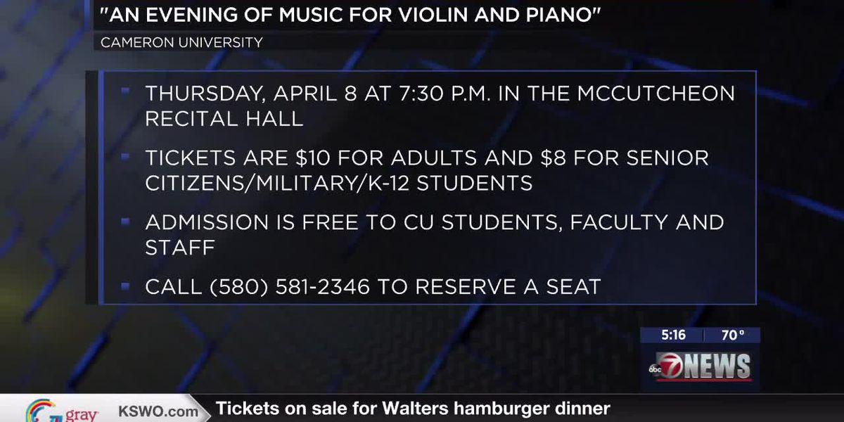 "Cameron professor presents ""An Evening of Music for Violin and Piano"""