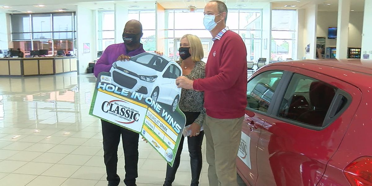 Local dentist awarded new car after hole-in-one during charity tournament