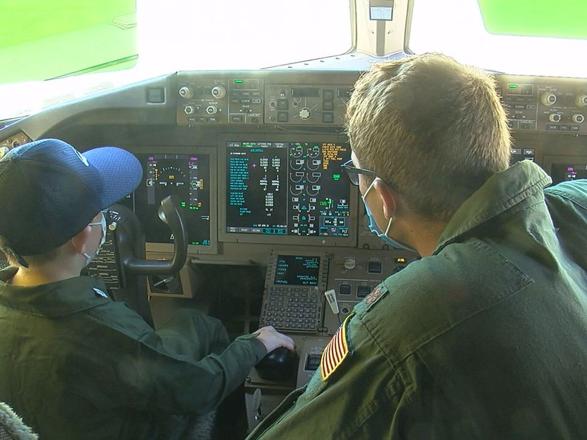 Child who beat Leukemia becomes pilot for a day at Altus Air Force Base