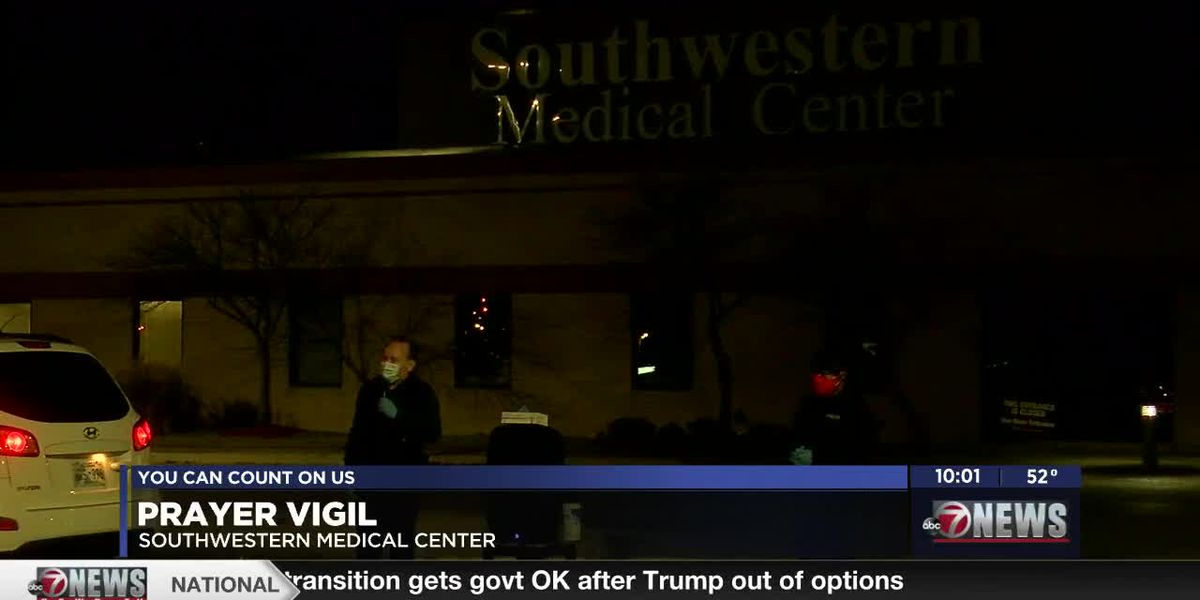 Prayer vigil held outside Southwestern Medical Center