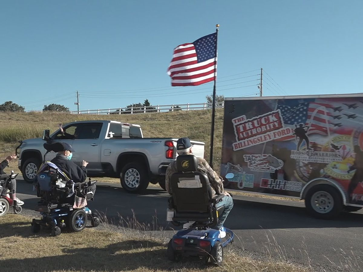 Parade held to lift spirits of veterans at the Lawton-Ft. Sill VA Center