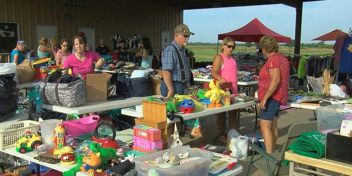 Central High raises money at garage sale for a new park