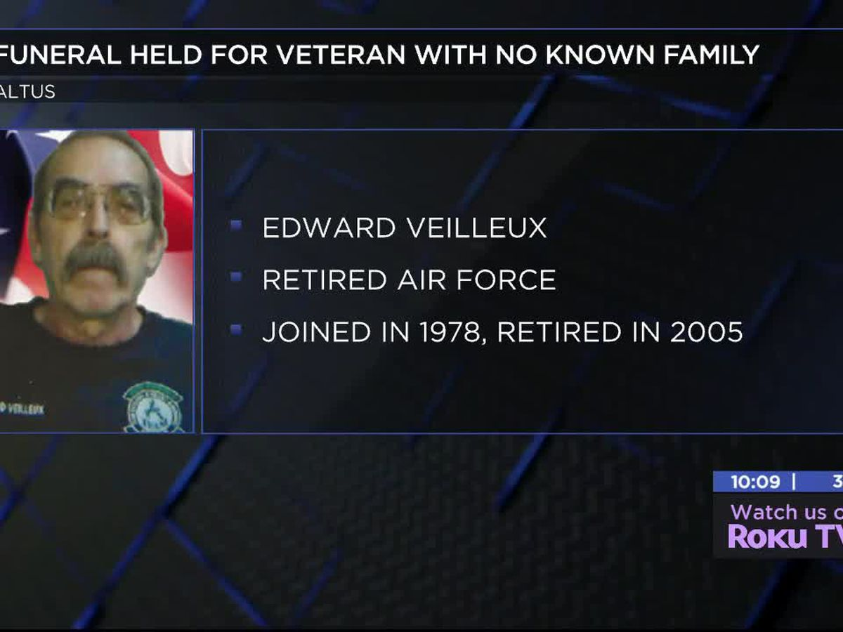 Funeral held for veteran with no known family
