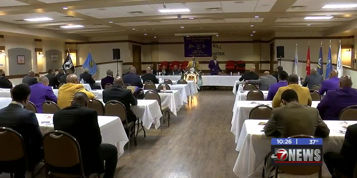Omega Psi Phi Fraternity helps Lawton veterans