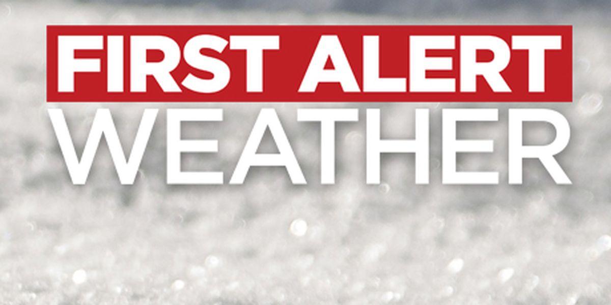 First Alert Forecast: high wind watch Thursday
