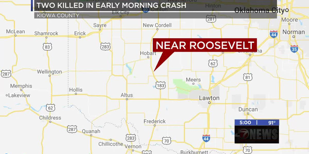 Altus woman and passenger killed in Kiowa Co. crash