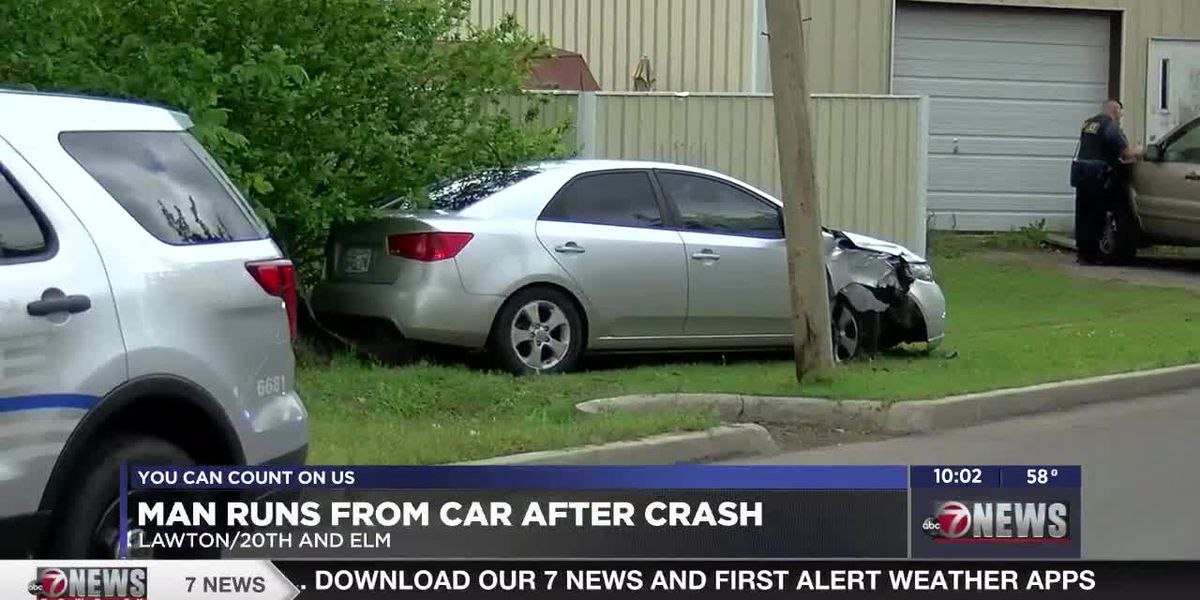 Lawton Police issue multiple tickets after car crashes into pole