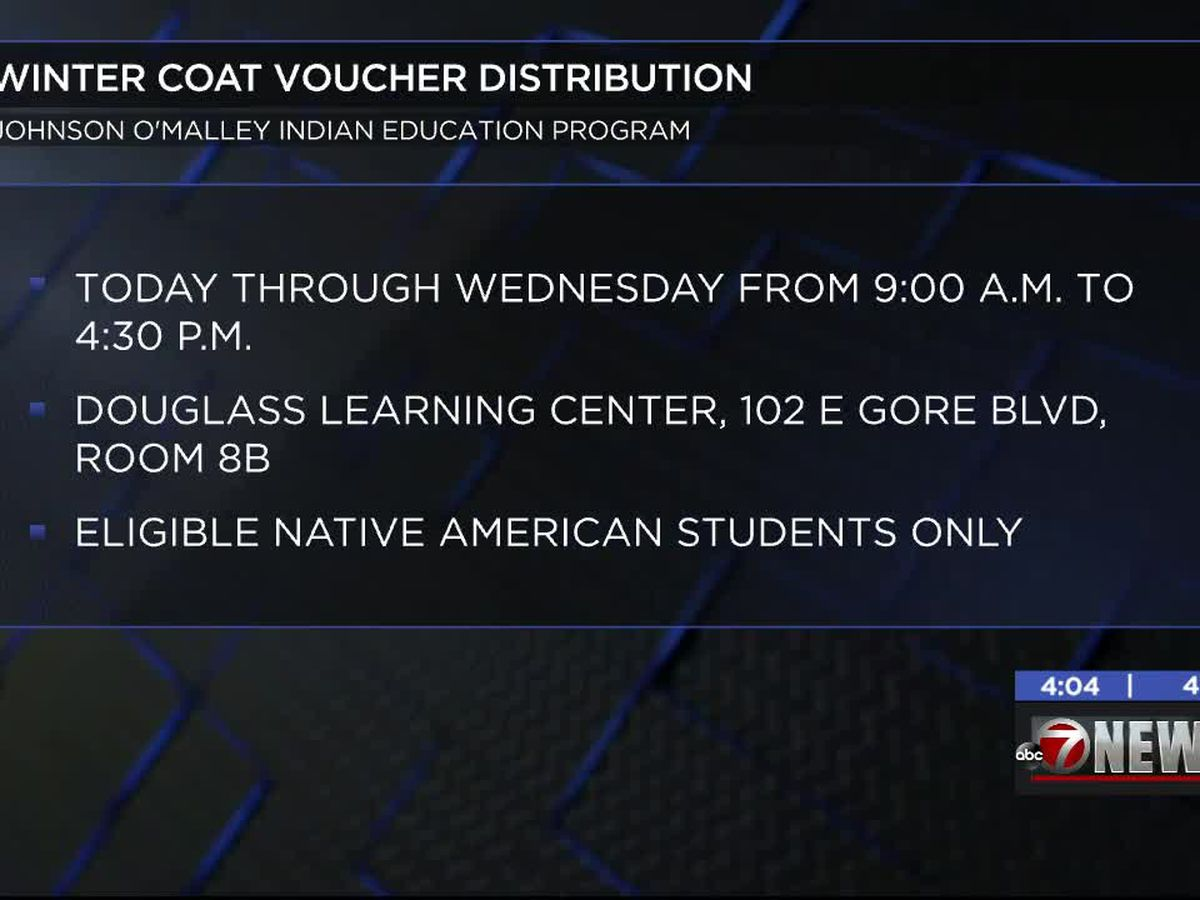 LPS's Indian Education Program distributing Winter Coat vouchers
