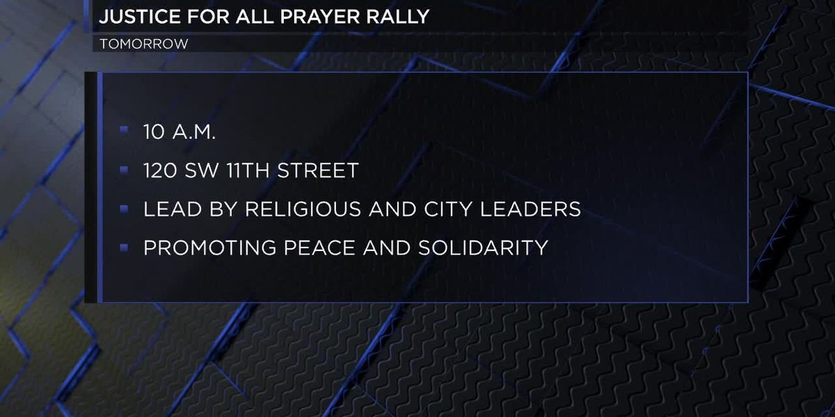 Justice For All Prayer Rally to promote peace and solidarity