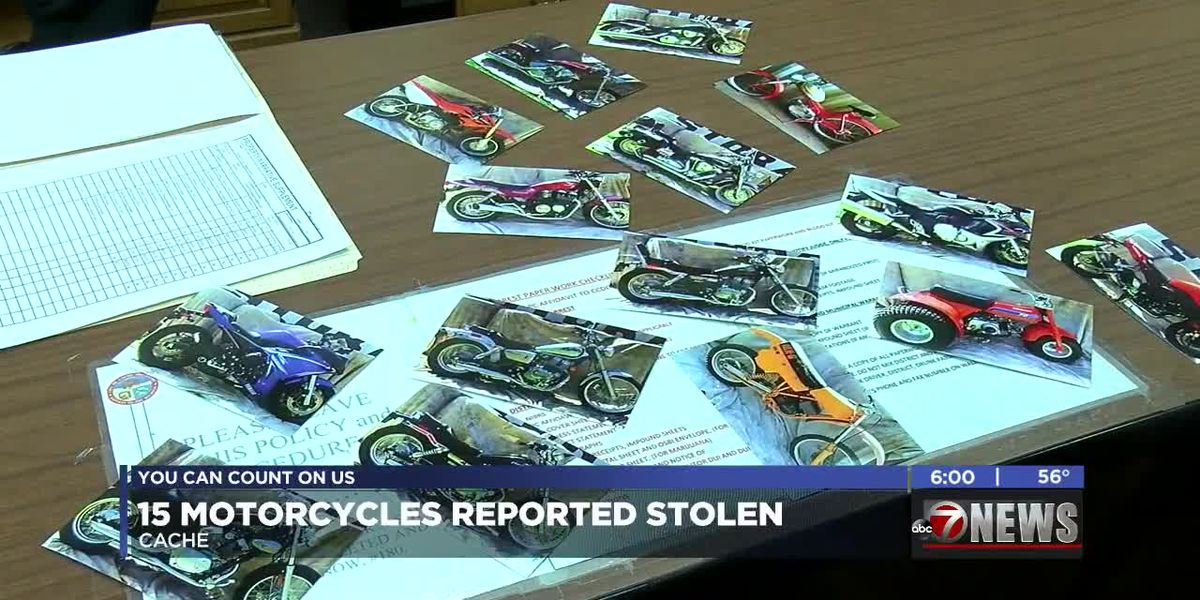 Cache Police continuing to investigate after 15 motorcycles were reported stolen