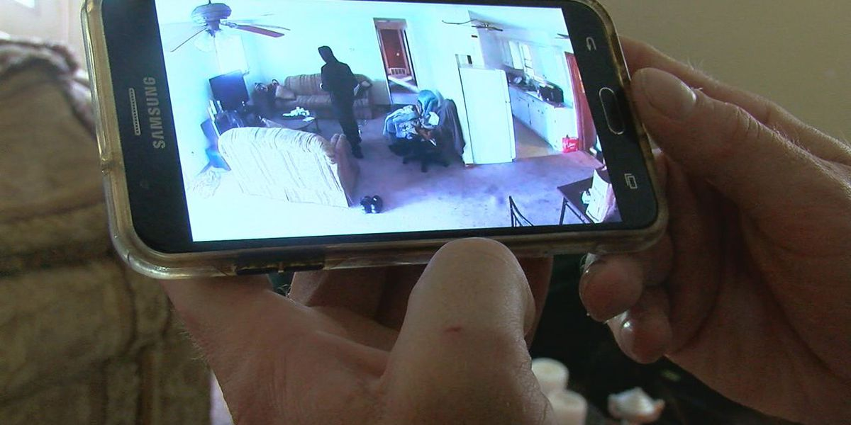 Lawton burglary caught on home surveillance camera